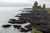 Londrangar Basalt Cliffs In Iceland poster