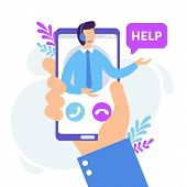 Personal Assistant Service. Virtual Technical Support Smartphone App, Personal Consult And Online Co poster