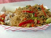 stock photo of pancit  - filipino street fare pandit noodles with vegetables - JPG