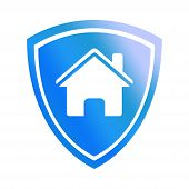House Shield Icon, House Shield Icon Vector Isolated On White Background, . House Shield Icon Simple poster