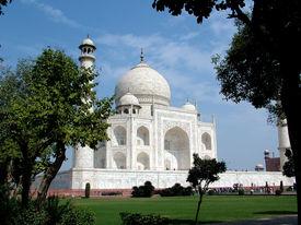 stock photo of mumtaj  - the taj mahal was built by emperor shah jahan as a mausoleum for his wife mumtaj in 1631 ad - JPG