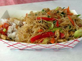 picture of pancit  - filipino street fare pandit noodles with vegetables - JPG