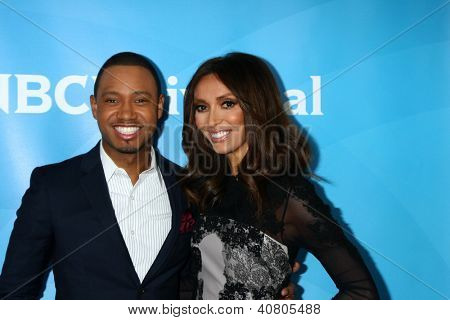 LOS ANGELES - JAN 7:  Terrence Jenkins, Giuliana Rancic attends the NBCUniversal 2013 TCA Winter Press Tour at Langham Huntington Hotel on January 7, 2013 in Pasadena, CA