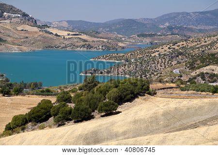 Embalse De Zahara Lake Close To Zahara De La Sierra