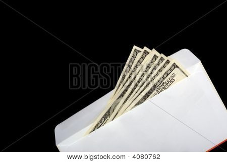 Bribe In An Envelope Black Background