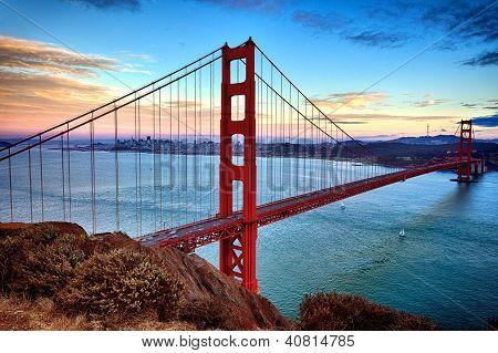 Horizontal View Of Golden Gate Bridge