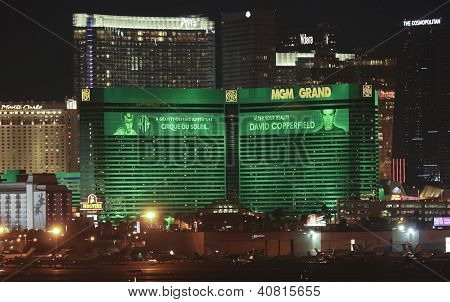 Uma vista do Mgm Grand do Aeroporto Internacional Mccarran