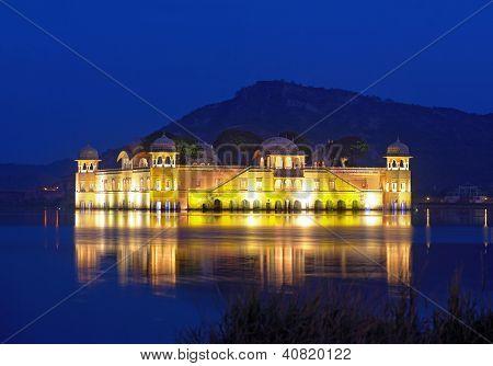 The Palace Jal Mahal At Night