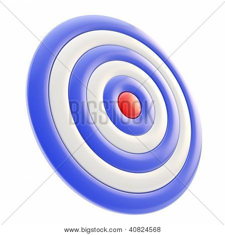 Target Darts Aim Glossy Mark Isolated On White