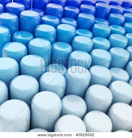Abstract Cylinder Background Composition