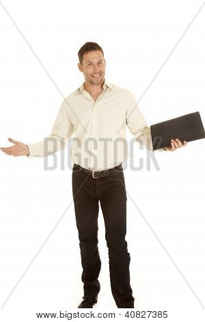 Man Business Binder Happy