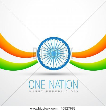 beautiful vector indian flag design in wave style