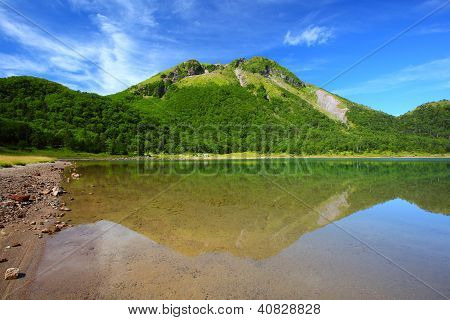 Mountain And Pond