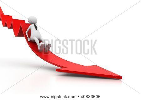 Sliding from arrow of breakdown