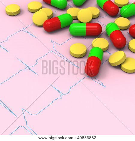 Pills and capsules on abnormal electrocardiogram (ECG) report