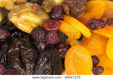 Mixed dried Fruits - Full Background , apricots, cranberries