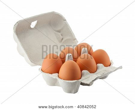 Egg Box Isolated With Clipping Path