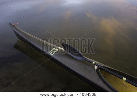 Racing Kayak, Wing Paddle, Calm Lake
