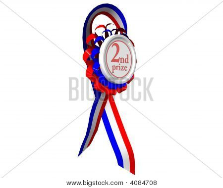 Second Prize Medal Rotated