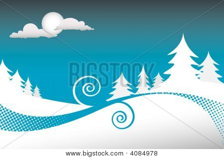 Blue Wintry Background