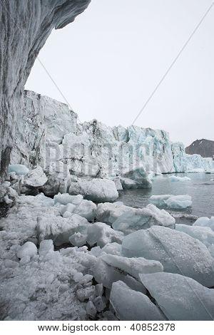 Arktischen Gletscher schmelzen