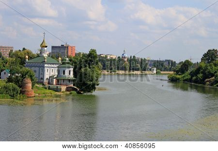 Ukrainian Church Near River In Summer