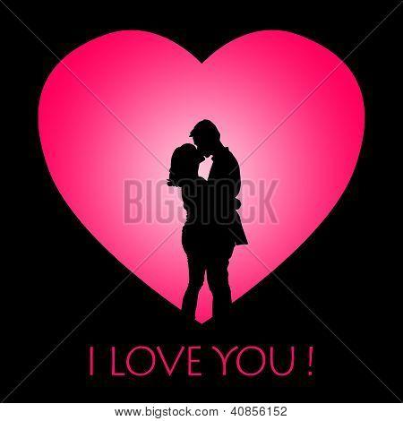 Romantic Card Design Couple