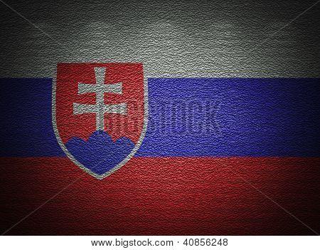 Eslovaco bandera pared, fondo Grunge Resumen