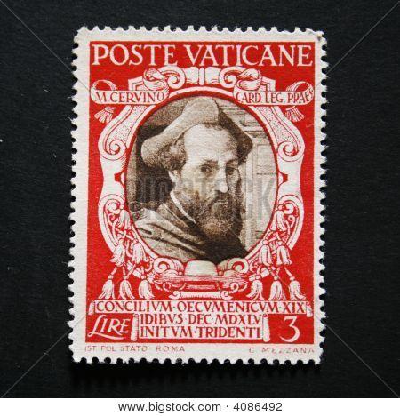 Vintage Vatican Postage Stamp