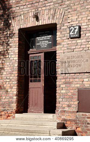 Doorway Of Block 27, Auschwitz