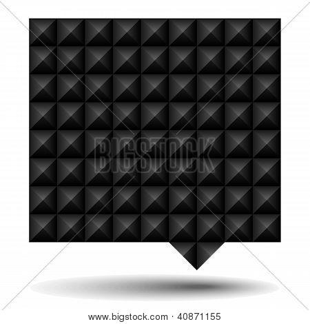 Bocadillo de diálogo texturizado negro