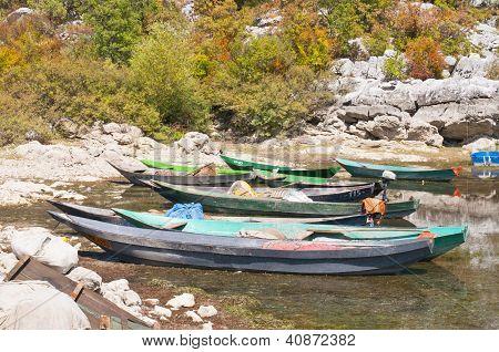 Skadar lake boats