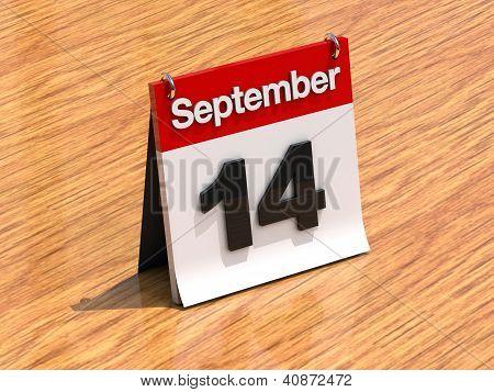 Calendar On Desk - September 14Th