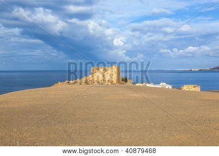Old Ruined Watchtower In Playa Blanca, Lanzarote