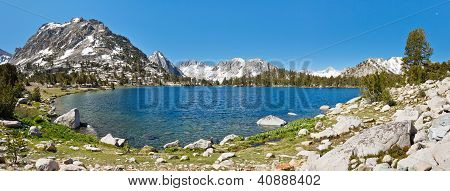 Sierra Nevada Mountain Lake Panorama