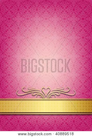 Abstract pink invitation paper