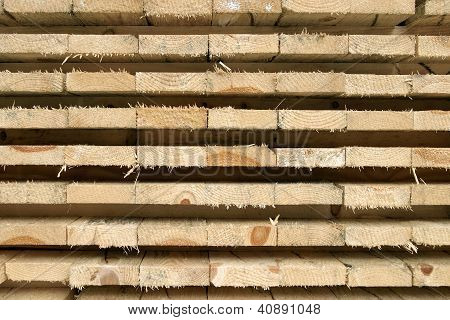 Stack Of Pine Boards