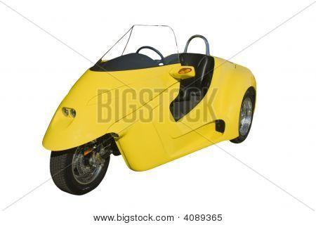 Trike muy amarillo