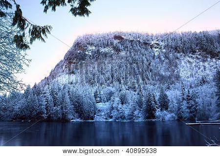 Sunrise On The High Mountain Lake