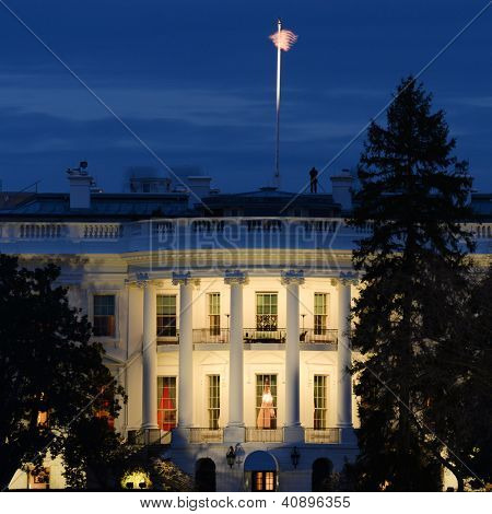 The White House at night - Washington DC United States