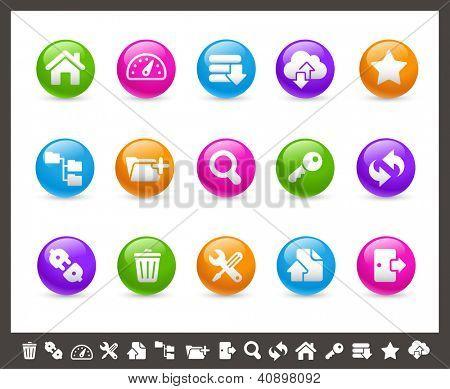 FTP & Hosting Icons // Rainbow Series