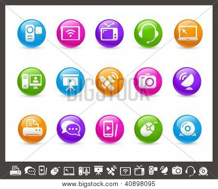 Communication Icons // Rainbow Series