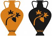 Amphora With Image Of Grape Vine