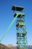 stock photo of potash  - Disused tower of the potash mine of Cardona - JPG
