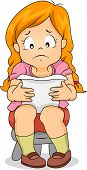 Illustration of a Girl Frowning While Reading a Sad Letter