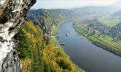 View on the Elbe in atumn