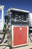 foto of bowser  - Old School fuel pump from a service station - JPG