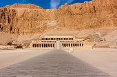 stock photo of mortuary  - The temple of Queen Hatshepsut in Luxor Egypt - JPG