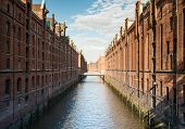 pic of brownstone  - Old Speicherstadt part of Hafen City Hamburg - JPG