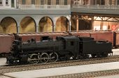 stock photo of track home  - miniature model of canadian pacific with building - JPG